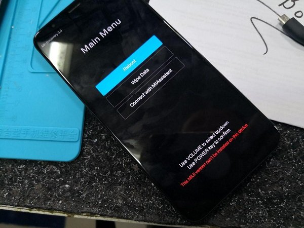 Заблокированный смартфон