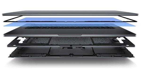 Слои ноутбука