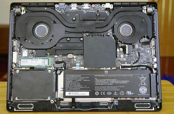 Ноутбук изнутри