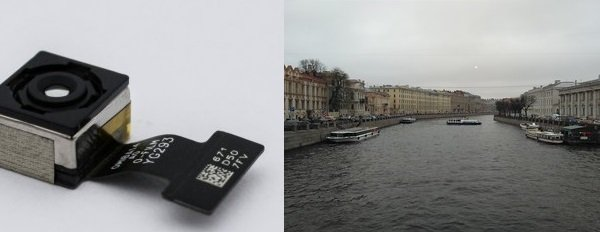 Модуль камеры и образец фотографии